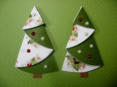 Nápady Na Vánoční Přáníčka - Yahoo Image Search Results Unique Christmas Trees, Christmas Origami, Christmas Tree With Gifts, Handmade Christmas Decorations, Christmas Crafts For Gifts, Diy Christmas Cards, Christmas Paper, Turquoise Christmas, Office Christmas