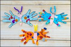 motyle-z-rączek/ handprint butterfly craft