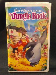 ~ RARE The Jungle Book (VHS 1991) Walt Disney Black Diamond Classic Edition ~