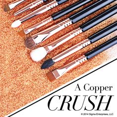 Give yourself a little treat with copper makeup tools!