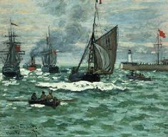 "Claude Monet, ""The Entrance to the Port of Le Havre (formerly The Entrance to the Port of Honfleur)"", c. 1867-1868, Norton Simon Museum"