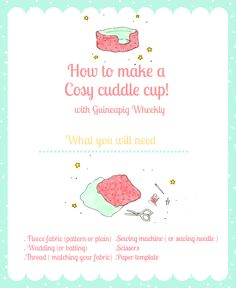 Hello Wheeklies! Today we have something exciting and new to the Guineapig Wheekly blog to share with you! It's a DIY: how to make a cosy cuddle cup tutorial for your guinea pig's to enjoy. ...
