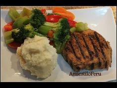VERDURAS SALTEADAS FACILITO - YouTube Peruvian Recipes, Pork Chops, Mashed Potatoes, Steak, Beef, Ethnic Recipes, Food, Youtube, Chicken Broccoli
