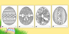 Easter Egg Mindfulness Colouring Sheets - easter egg, mindfulness, colouring sheets, colour The Effective Pictures We Offer You About Easter Eggs watercolor A quality picture can tell you many things. Spring Coloring Pages, Coloring Easter Eggs, Animal Coloring Pages, Colouring Pages, Printable Coloring Pages, Coloring Sheets, Free Coloring, Mindfulness Colouring Printable, Mindfulness Colouring Sheets