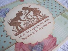 Handmade Thinking of You Stamped Greeting Card  by wkburden, $1.99