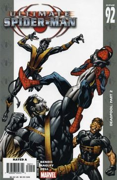 Ultimate Spider-Man # 92 by Mark Bagley Marvel Comic Universe, Marvel Comic Books, Comic Movies, Comics Universe, Spectacular Spider Man, Amazing Spider, Marvel Ultimate Spider Man, Superhero Books, Spiderman