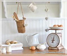 Farmhouse kitchen vignette
