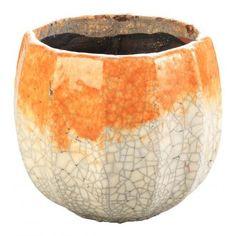 Look what I found on Wayfair! Ceramic Planters, Planter Pots, Bedroom Plants, Orange Grey, Potted Plants, Beautiful Homes, Decorative Bowls, Greece, Vase