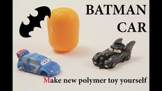 DIY super mini clay batmobile Polymer clay tutorial
