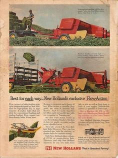 New Holland Agriculture, Agriculture Farming, Crop Protection, The Ind, New Holland Tractor, Ford Tractors, Old Farm Equipment, Old Advertisements, Ford News