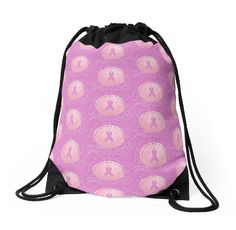 Breast Cancer Pink Ribbon Glitter Logo Drawstring Bags by HavenDesign | Redbubble