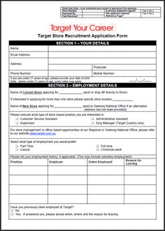 Printable Pdf Generic Employment Application Form  Employment