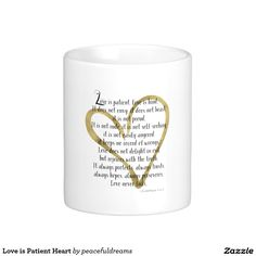 Love is Patient Heart Classic White Coffee Mug