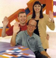 "Fred Dinenage, Carol Vorderman and Gareth Jones   ""How 2"" fun science experiment show    ""that's how, for now!"""