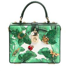 """Dolce & Gabbana - Tasche Aus Verziertem Dauphineleder """"Dolce Box"""""""