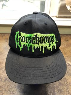 Goosebumps Hat Vintage 1995 90s Books Snapback Iconic Movies Horror Series  Cap by PoorBoyJohnny on Etsy 3af92be3e474