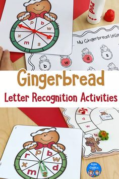 Gingerbread Letter Recognition Activities These hands on alphabet activities work on easily confused letters - all with a cute gingerbread theme! Letter Sound Activities, Toddler Learning Activities, Alphabet Activities, Kids Learning, Gingerbread Man Activities, Christmas Activities, Preschool Christmas, Preschool Activities, Camping Activities
