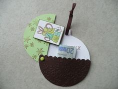 clean and simple carte noel Creative Money Gifts, Mini Albums Scrap, Money Cards, Christmas Cards, Christmas Ornaments, Diy Gifts, Cardmaking, Birthday Cards, Diy And Crafts