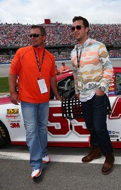 Chipper Jones & AJ McCarron in Talladega - Aarons 499 ...for you @Rachel Brooks