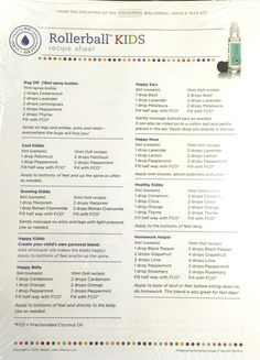 Rollerball Remedies - Indvidual Recipe Sheets – Essential Oil Gear