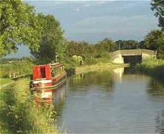 Narrowboat moored in the countryside