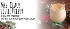 Mrs. Claus Little Helper  2 1/2 oz. eggnog  1/2 oz. caramel gourmet syrup #Cardis  #PortsmouthPublickHouse #TheRhodeShow #WPRI12 #drinks #mocktails #winter #holidays