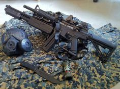 This is an awesome gun, gotta love the attached shotgun feature  #badass #readyforanything #tactical