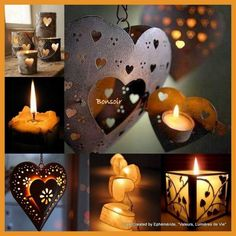 Love Collage, Color Collage, Beautiful Collage, Beautiful Hearts, Beautiful Things, Candle Lanterns, Candle Sconces, Candles, Light My Candle