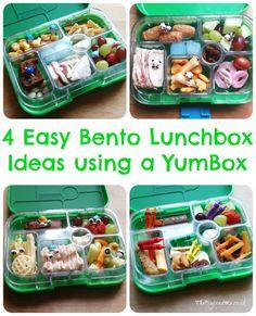 4 Easy Bento Lunchbox Ideas using a Yumbox