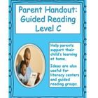 This Common Core aligned handout gives parents tips and ideas for helping their child  read, discuss and write about books at Guided Reading Level ...