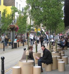 Penoyre & Prasad teamed up with Trees for Cities to create the Non-Stop Forest, tranforming London's  Exmouth Market by the temporary planting of 30 pear trees. Click image for link to full story, and visit the slowottawa.ca boards >> https://www.pinterest.com/slowottawa/