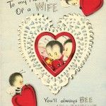 "Vintage ""You'll Always Bee"" Valentines Day Card with Bees"