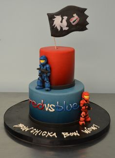 Sugarland Red Vs. Blue Cake  hahahahaha!!! I love this series XD