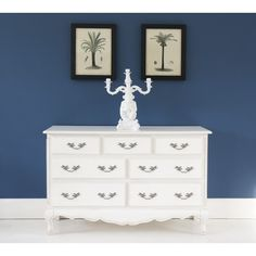 provencal 7drawer white chest of drawers