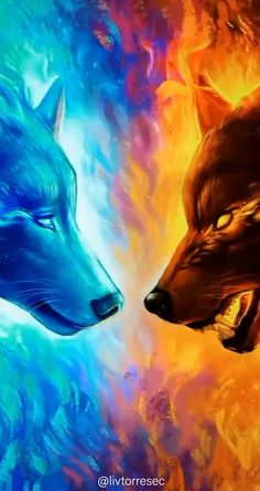fire and ice wolf tattoos - Yahoo Search Results Yahoo Image Search Results Fantasy Wolf, Dark Fantasy Art, Wolf Wallpaper, Animal Wallpaper, Wallpaper Wallpapers, Galaxy Wolf, Wolf Artwork, Wolf Painting, Werewolf Art