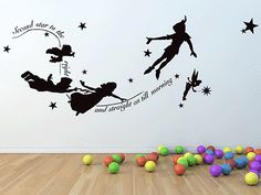 Peter Pan Tinkerbell Second Star to The Right Wall Decal Mural Stickers Kids | eBay
