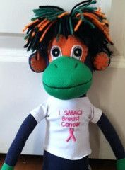 "Now available: NoMo wearing ""I SMAC! Breast Cancer"" T-shirt - $28.99 #breastcancer"