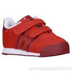 Kinder - adidas Originals Samoa Toddler Lässige Schuhe Light Scarlet/Cardinal/Weiß - Schuhe Größe:28,29,30,31,32,33,34,35