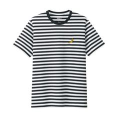 UNIQLO Andy Warhol Gold Banana Striped T-Shirt in color Black/White Uniqlo, Yesterday And Today, Classic Outfits, Andy Warhol, American Artists, Black And White, Color Black, Banana, Mens Tops