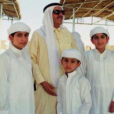 Rashid HRM, Hamdan RSM, Maktoum HRM y Maktoum HRM