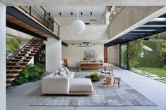 [New] The 10 All-Time Best Home Decor (Right Now) - Ideas by Elisa Arp - Casa 1 Brazil by Villa Design, Modern House Design, Garage Guest House, High Ceiling Living Room, Interior Design Images, Interior Architecture, Luxury Homes, Interior Decorating, New Homes