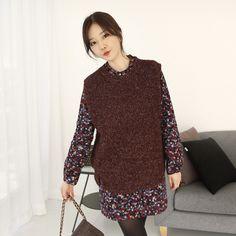 Korea Womens Luxury Shopping Mall [mimindidi] Bruni ♡ vest / Size : FREE / Price : 43.15 USD #korea #fashion #style #fashionshop #apperal #luxury #lovely #mimididi #knit #cardigan #loosefit