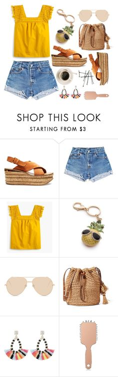 """""""Summer Time"""" by piedraandjesus on Polyvore featuring moda, Chloé, Levi's, J.Crew, New Directions, Linda Farrow, BOBBY, BaubleBar y Forever 21"""