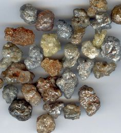 Rough uncut diamonds. I luv rocks and these are pretty dang special!