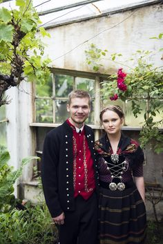Picture of newlywed Faroese couple wearing the national costume. Photographer: Tróndur Dalsgarđ You can read more about the beautiful islands at www.visitfaroeislands.com Folk Costume, Costumes, Kingdom Of Denmark, Faroe Islands, Beautiful Islands, Newlyweds, Traditional Outfits, Dancers, Folk Art