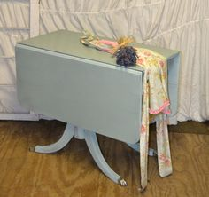 Vintage Shabby Chic Drop Side Dining Table by DustandWanderlust, $200.00