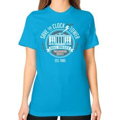 Save The Clock Tower Unisex T-Shirt (on woman)