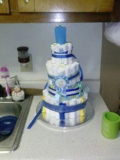 Tardis diaper cake