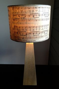 sheet music lamp shade