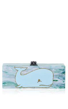 Flavia Whale Clutch by Edie Parker for Preorder on Moda Operandi